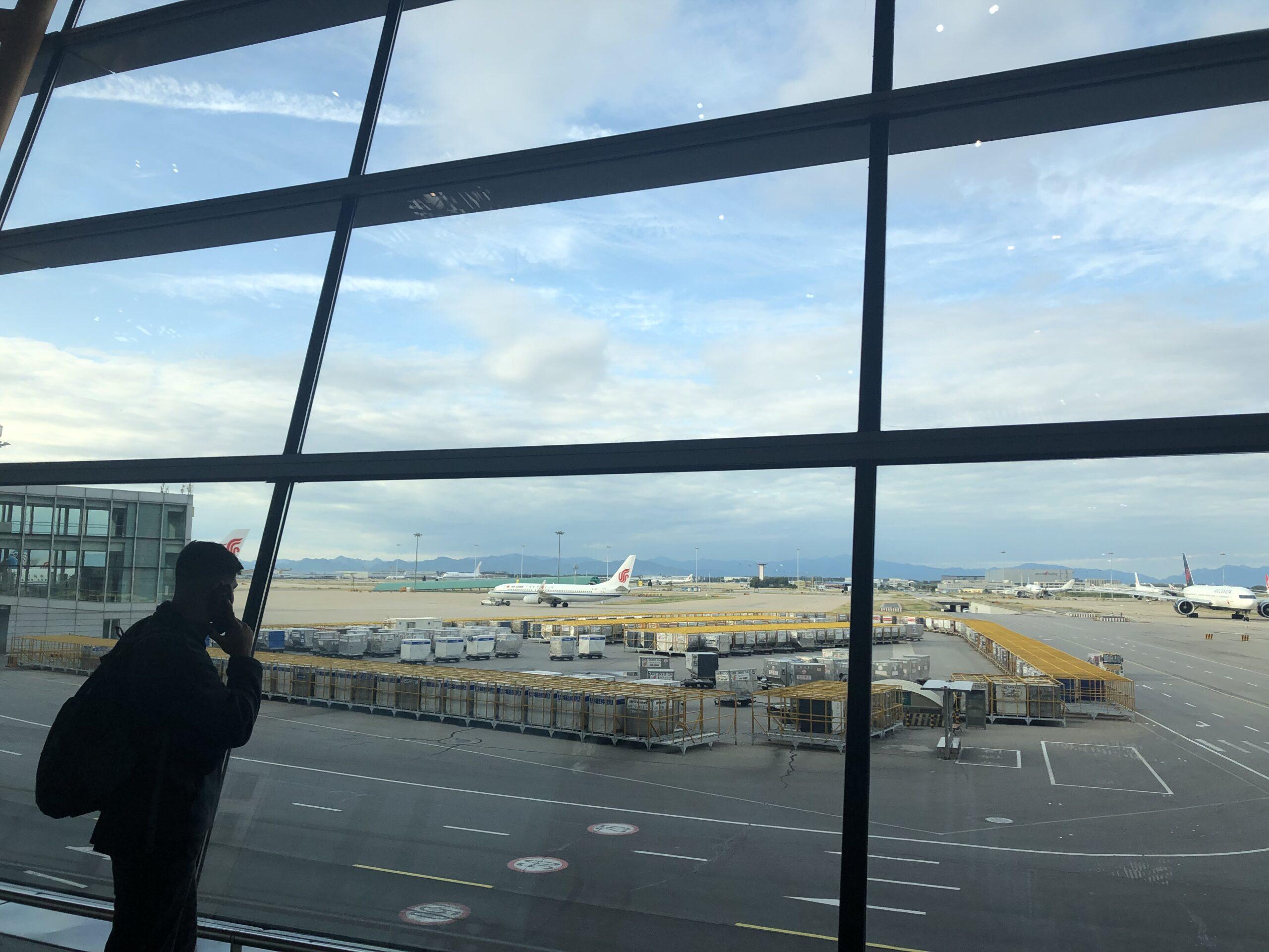 Picture overlooking Beijing airport runways