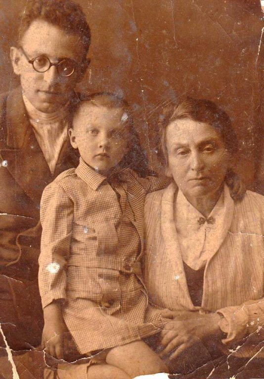 Picture of Vasily Grossman, author of Life and Fate, with his mother