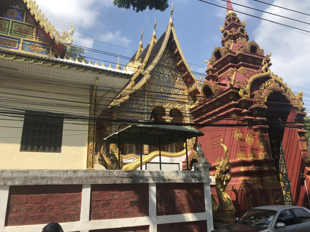 A random temple we came across in Chiang Mai